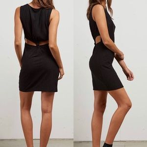 Volcom black bodycon dress